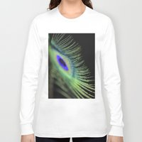 peacock feather Long Sleeve T-shirts featuring Peacock feather by Falko Follert Art-FF77