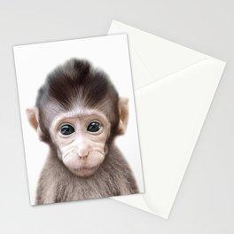 Monkey Art Stationery Cards