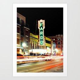 Historic Fargo Theater  Art Print