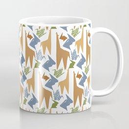 Animal Origami Pattern Coffee Mug