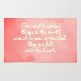 The most beautiful things... The Little Prince quote Rug