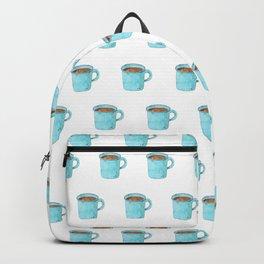 Blue Enamel Coffee Mug Backpack