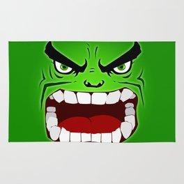 Green Hulk Angry Rug
