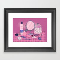 Beauty Products Framed Art Print