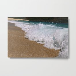 Wave Closeup Metal Print