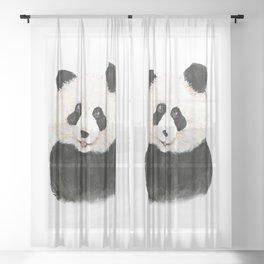 naughty little panda Sheer Curtain