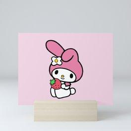 Pink My Melody Bunny Mini Art Print