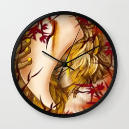 Through the Leaves Wall Clock