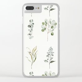 Eucalyptus Branches Clear iPhone Case