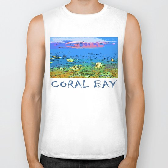 Coral Bay Dreams Biker Tank