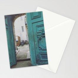 Blue door, Nantes, France Stationery Cards