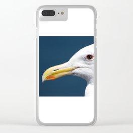 Seagull Portrait2 Clear iPhone Case