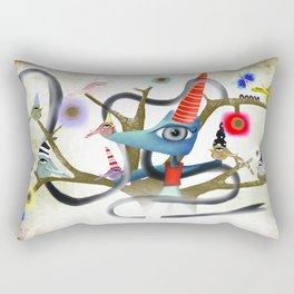 Delicious friendship birds and fox Rectangular Pillow
