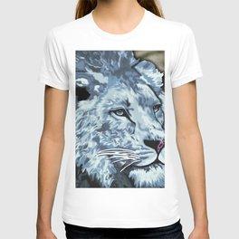 Grey Blue Painted Lion T-shirt