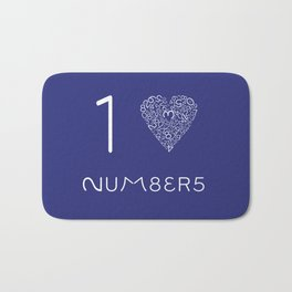 I heart Numbers Bath Mat