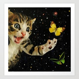 All Across the Universe Chasing Butterflies and Dreams Art Print
