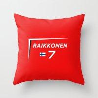 f1 Throw Pillows featuring F1 2015 - #7 Raikkonen [v2] by MS80 Design
