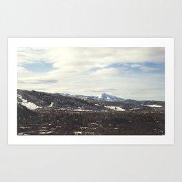 Aspen Mountains Art Print