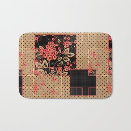 Abstract floral pattern Bath Mat