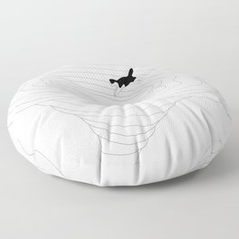 Cat jump in the tornado Floor Pillow