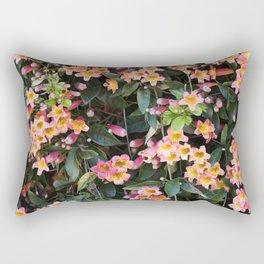 Tangerine Beauty Cross Vine Flowers Rectangular Pillow
