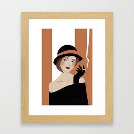 VINTAGE BONNIE Framed Art Print