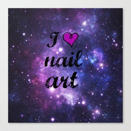 I heart Nail Art Canvas Print