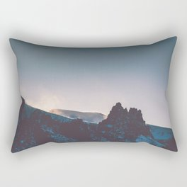 In the Shadows of Mountains Rectangular Pillow