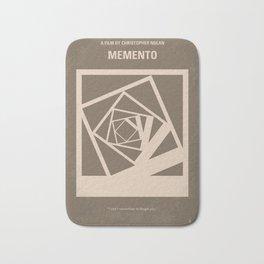 No243 My Memento minimal movie poster Bath Mat
