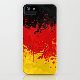 Germany Flag - Messy Action Painting iPhone Case