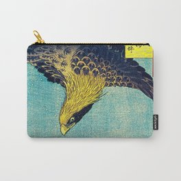 Hiroshige, Hawk Flight Over Field Carry-All Pouch