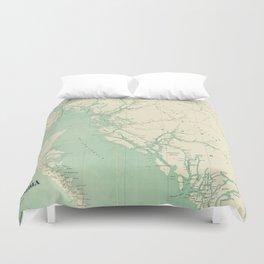 Vintage Map of British Columbia (1893) Duvet Cover