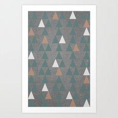 Concrete & Pattern Art Print