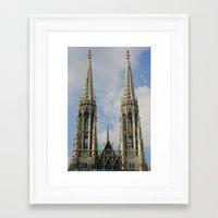 vienna Framed Art Prints featuring Vienna by Kim Ramage