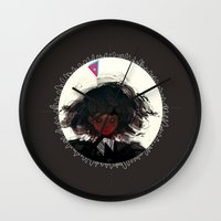 demon Wall Clocks featuring Demon by Pods