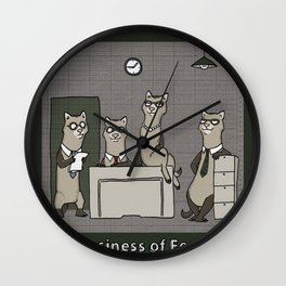 A BUSINESS OF FERRETS Wall Clock