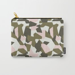 PINK  OLIVE CUSTOM GEO CAMO Carry-All Pouch