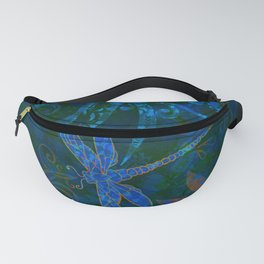 Dragon Fly Abstract Print Fanny Pack