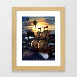 Island of the Sirens Framed Art Print