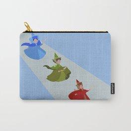 3 Fairies (Blue)  Carry-All Pouch