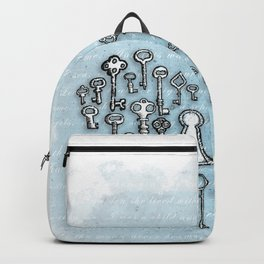 Key Heart White Backpack
