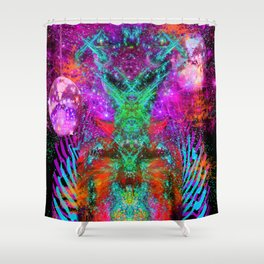 Alien Disco Fire Daddy Shower Curtain