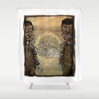 angels Shower Curtains featuring Zombi angels by gunberk