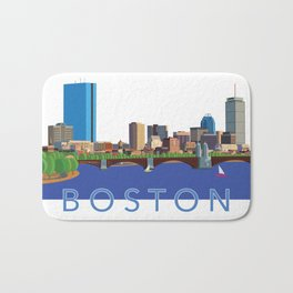 Back Bay Boston Skyline Bath Mat