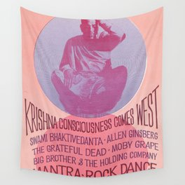 Mantra-Rock Dance Poster, 1967 Wall Tapestry