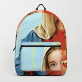 Virgin Mary Vintage Backpack