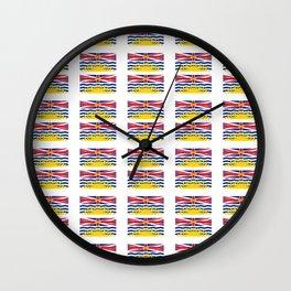 flag of british columbia -prairie,canadian, canada,vancouver,victoria,columbian. Wall Clock