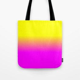 Neon Yellow and Bright Hot Pink Ombré  Shade Color Fade Tote Bag