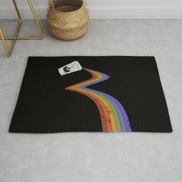 Coffee Cup Rainbow Pour // Abstract Barista Wall Hanging Artwork Graphic Design Rug