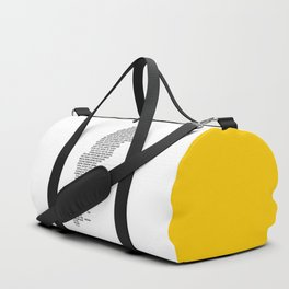 Cities in Sweden - white Duffle Bag